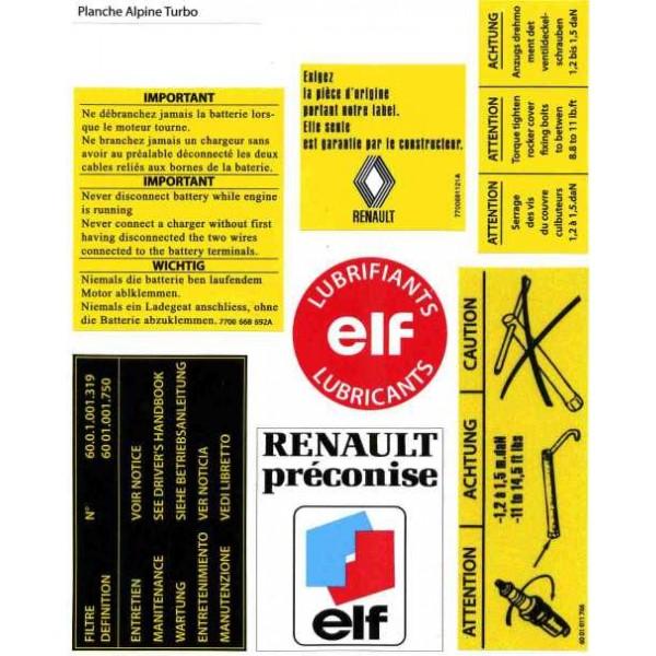 Autocollant pour Renault 5 Alpine et Renault 5 Alpine ...