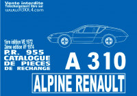 Alpine A310 4cyl pièce rechange