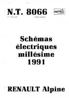 Alpine A610 Scheme electrique