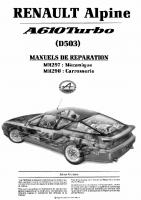 Alpine GTA V6 Manuel réparation