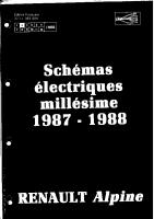 Alpine GTA V6 Turbo Schema electrique
