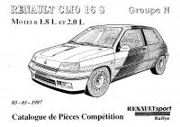 Clio 16s Williams Groupe N pièces rechange