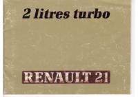 R21 Turbo Livret de Bord