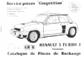 R5 Turbo Piece Groupe B