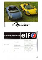 Renault Spider Livret de bord