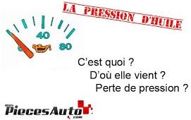 pression huile moteur - perte de pression