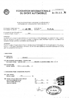 Fiche Renault 5 Alpine turbo PTH homologation Groupe N