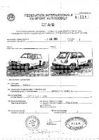Renault 5 Turbo 2 PTH fiche homologation